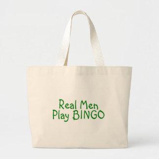 Real Men Play Bingo 2 Large Tote Bag