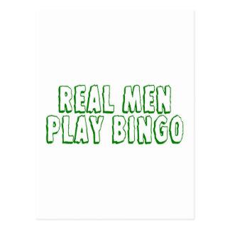 Real Men Play Bingo 2 Postcard