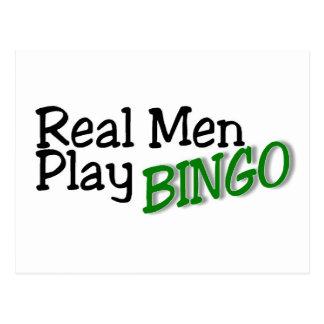 Real Men Play Bingo 3 Postcard
