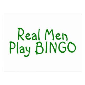 Real Men Play Bingo Postcard
