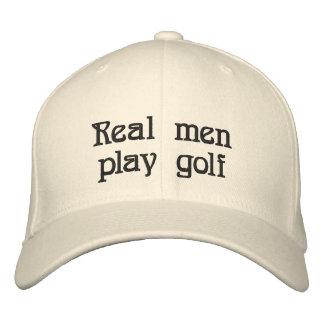 Real men play golf hat