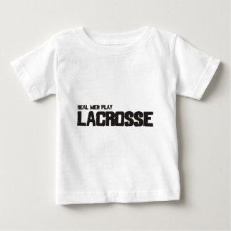 Real Men Play Lacrosse Baby T-Shirt