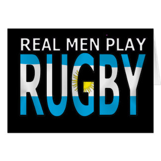 Real Men Play Rugby Argentina Greeting Cards
