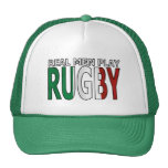 Real Men Play Rugby Italy Mesh Hats