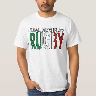Real Men Play Rugby Italy T-Shirt