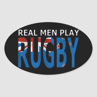 Real Men Play Rugby New Zealand Stickers