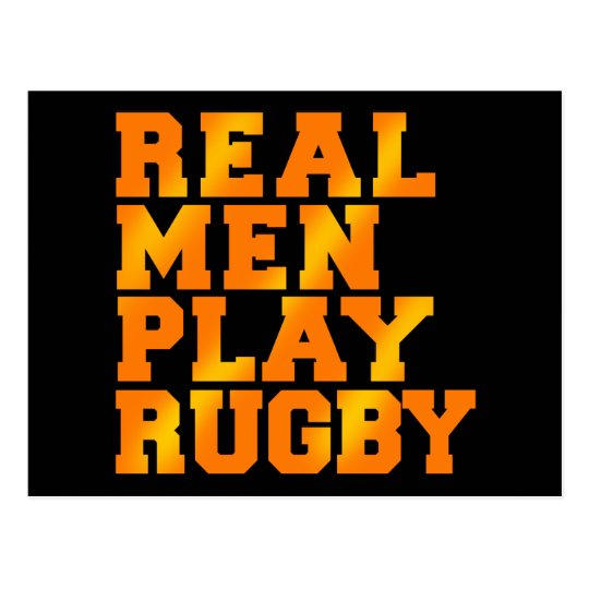 Real Men Play Rugby Postcard