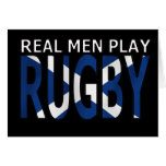 Real Men play Rugby Scotland Card