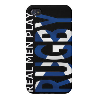 Real Men play Rugby Scotland iPhone 4 Cases