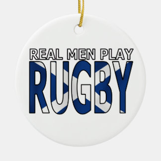 Real Men play Rugby Scotland Christmas Tree Ornaments