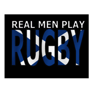 Real Men play Rugby Scotland Post Card