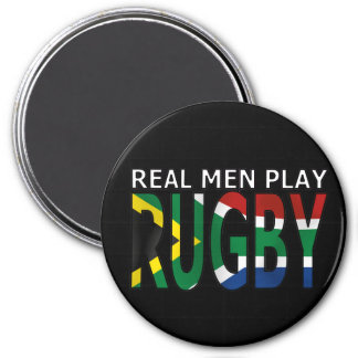 Real Men play Rugby South Africa 3 Inch Round Magnet