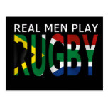 Real Men play Rugby South Africa Post Cards