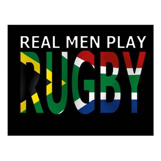 Real Men play Rugby South Africa Postcard