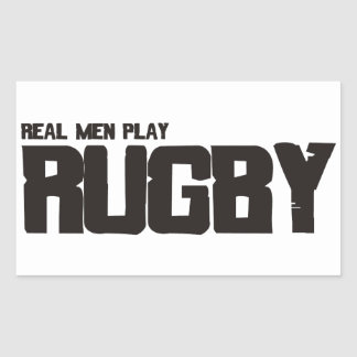 Real Men Play Rugby Stickers
