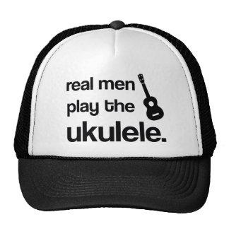 REAL MEN PLAY THE UKULELE TRUCKER HAT