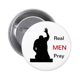 Real Men Pray Pinback Button