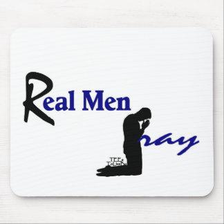 Real Men Pray Mouse Pad