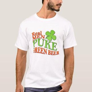 Real Men Puke Green Beer T-Shirt