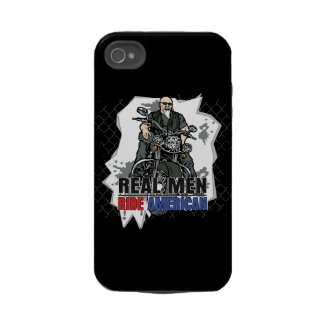 Real Men Ride American Bikes iPhone4 Case casemate_case