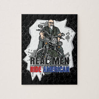 Real Men Ride American Bikes Jigsaw Puzzle