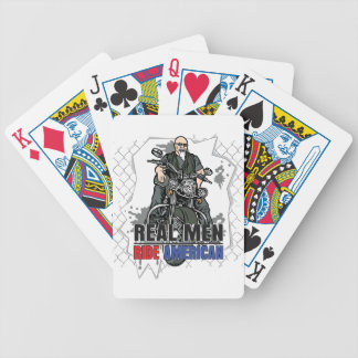 Real Men Ride American Motorcycles Playing Cards