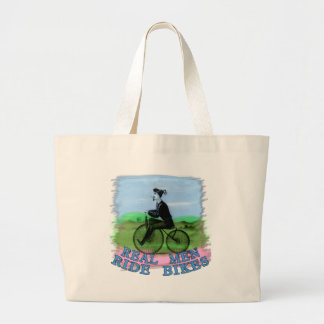 Real Men Ride Bikes Products Large Tote Bag