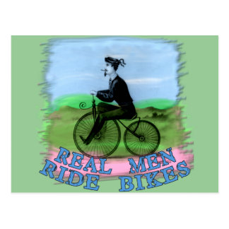 Real Men Ride Bikes Products Postcard