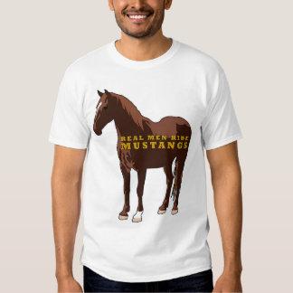 Real Men Ride Mustangs Tee Shirt