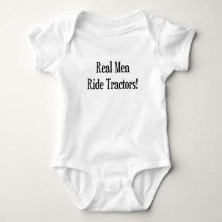 Real Men Ride Tractors Baby Bodysuit