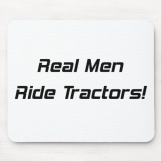 Real Men Ride Tractors Tractor Gifts By Gear4gearh Mouse Pad