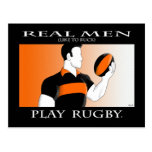 Real Men: Rugby Postcard