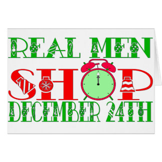 REAL MEN SHOP DECEMBER 24TH STATIONERY NOTE CARD