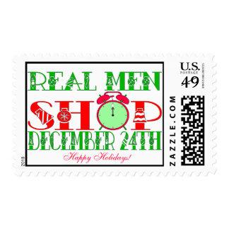 REAL MEN SHOP DECEMBER 24TH STAMPS