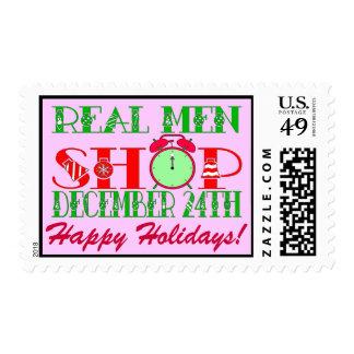 REAL MEN SHOP DECEMBER 24TH POSTAGE STAMPS