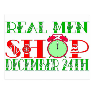 REAL MEN SHOP DECEMBER 24TH POSTCARD
