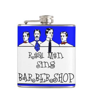 Real Men Sing Barbershop Hip Flask