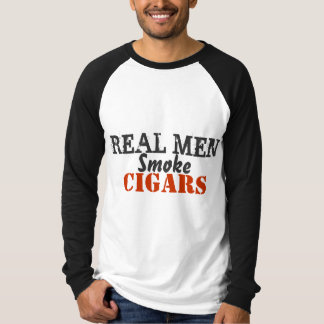 Real Men Smoke Cigars T-shirts