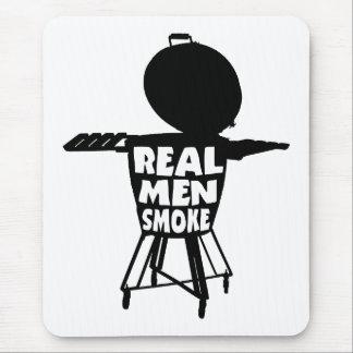 REAL MEN SMOKE MOUSE PAD