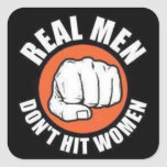 Real Men... Square Stickers