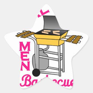 Real Men Star Sticker
