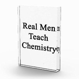 Real Men Teach Chemistry Acrylic Award