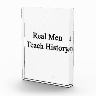 Real Men Teach History Acrylic Award