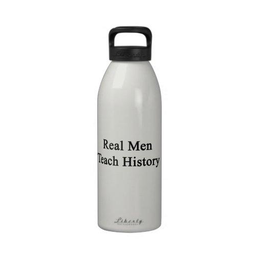 Real Men Teach History Reusable Water Bottle