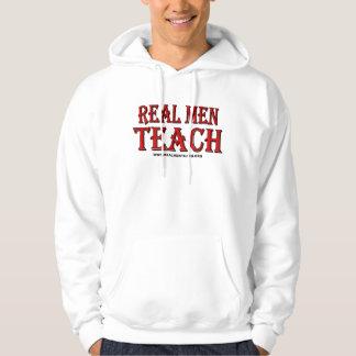 Real Men Teach Hooded Sweatshirt