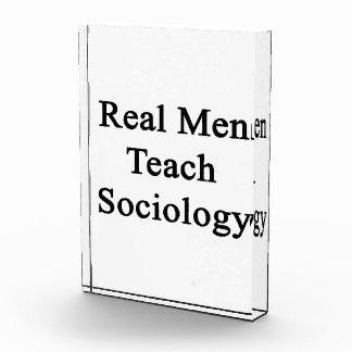 Real Men Teach Sociology Acrylic Award