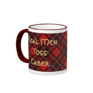 Real Men Toss Caber. Ringer Mug