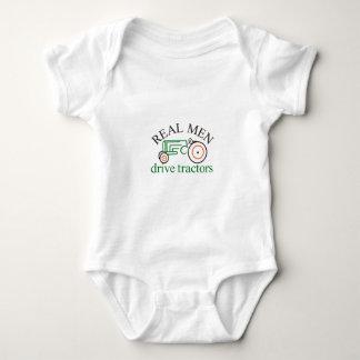 Real Men Tractor Baby Bodysuit