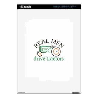 Real Men Tractor iPad 3 Decals