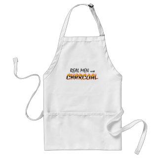 Real Men use Charcoal BBQ Apron